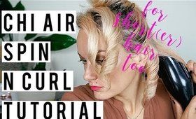Chi Air Spin n Curl Tutorial on Shoulder Length Hair