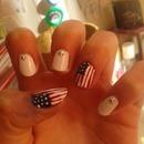 USA nail art style