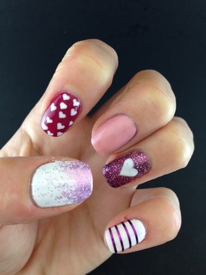 Gelish Valentine's Day idea. You can visit my blog for tutorial