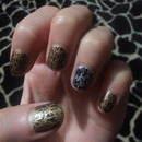Gold and silver crackle