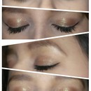 brown green fairy eye shadow