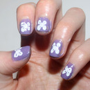 Purple and White Bows