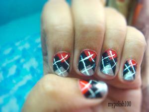 hot print for short nails http://mypolish100.blogspot.in/2013/02/blog-post.html