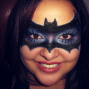 My version of a bat mask ♥ {Halloween makeup} ^▽^