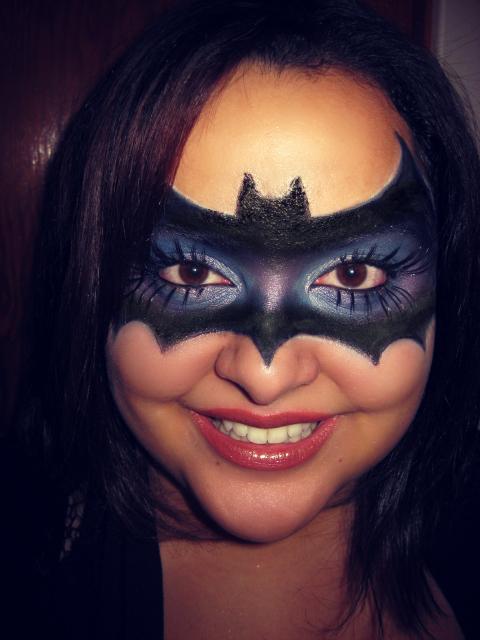 My version of a bat mask ♥ {Halloween makeup} ^ ^ | Jenny ... Halloween Makeup For Men