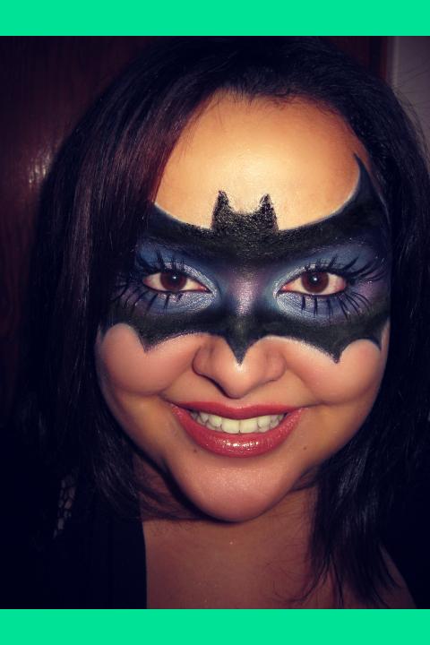 My version of a bat mask ♥ {Halloween makeup} ^▽^ | Jenny V.\'s ...