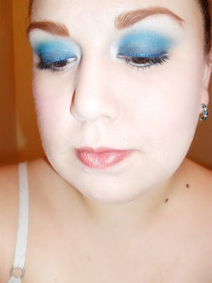 eyeshadow not tagged but used in highlight was MAC-Vellum, and MAC glitter liquid liner in For the Boys.