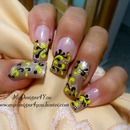 Yellow And Black Fall Nails