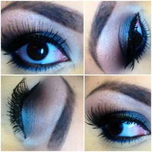 Smokey Metallic Colors, blues and grays! Perfect for a Night out!