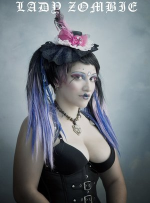 Lady Zombie - photo by Adrian Buckmaster. Makeup and hair by Venus Pain.