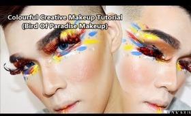 Creative Colourful Makeup Tutorial ( Bird Of Paradise Makeup Tutorial)