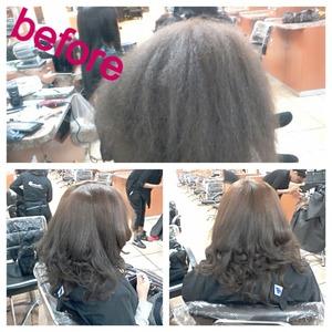 wash, blowdry, press, flat iron, and curls