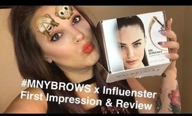 #MNYBROWS x Influenster - First Impression & Review
