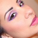 Pink/Purple Eyes Ombre Lips