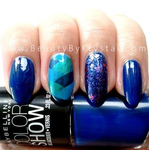 polishes used: http://www.beautybykrystal.com/2013/04/braidedfishtail-nail-with-maybelline.html