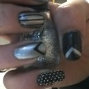 Black and silver skittles