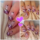 Cute Polka Dots Nail Art | Abstract Purple Nails