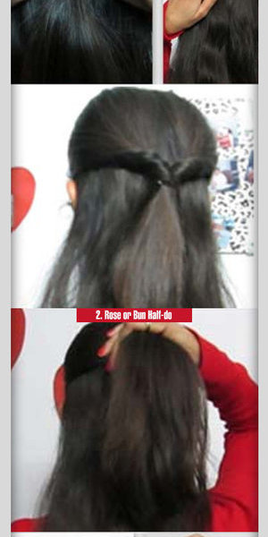 A half updo hairstyle is extremely popular. It is a great way of managing your hair while showing off some style too. http://www.stylecraze.com/articles/simple-2-steps-half-up-do-hairstyle-tutorial/