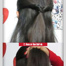 Simple 2 Step Half Updo Hairstyles