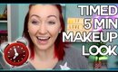 REALISTIC 5 Minute Makeup + Real-Time Tutorial | Tips & Tricks for a Quick Makeup Look