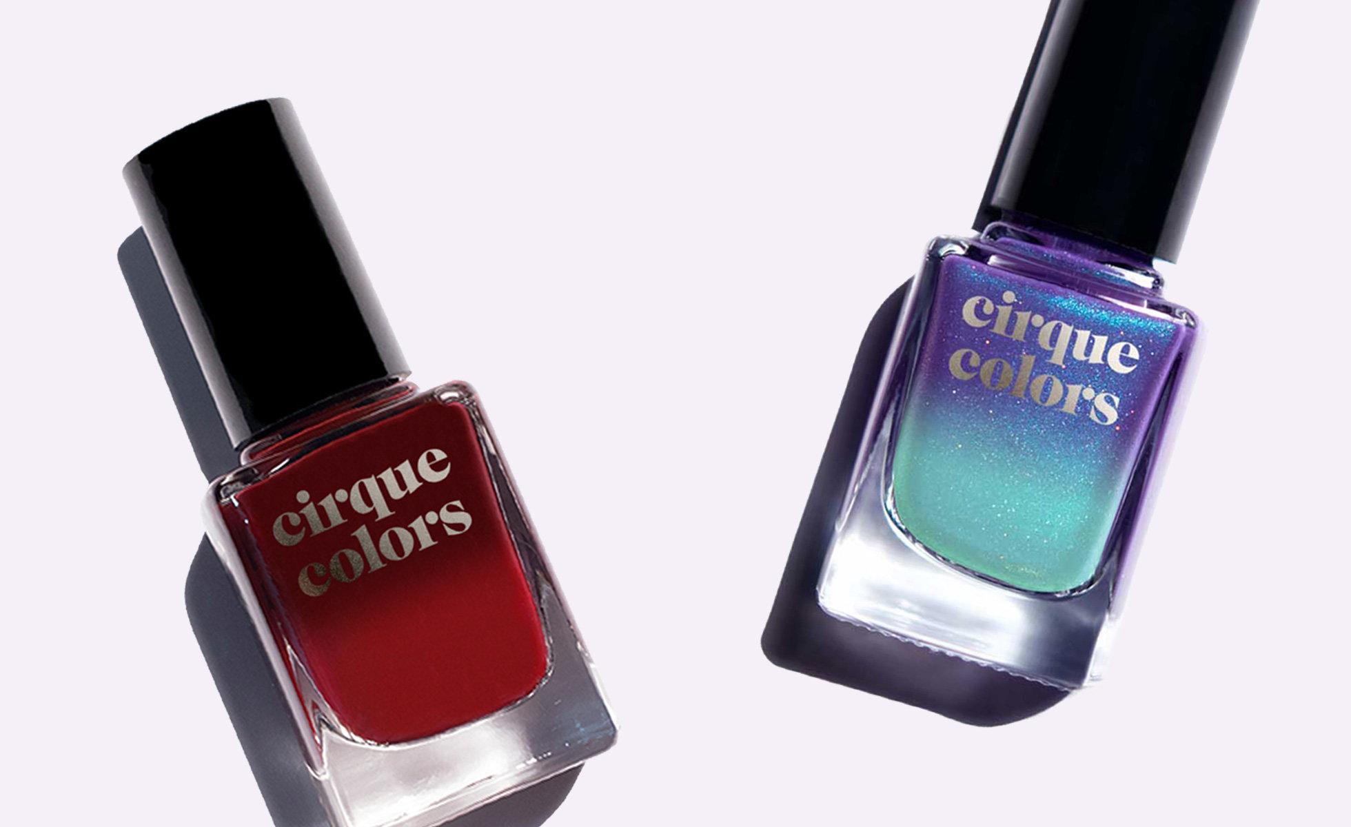Cirque Colors Thermal Nail Polish in shades Rothko Red and Luna (Photo: Cirque Colors)