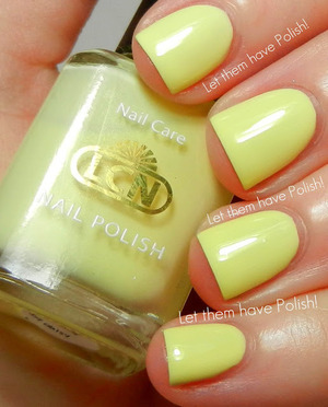 A soft pastel yellow creme with a subtle shimmer by LCN.