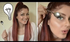 Γραμμη eyeliner με ένα κουτάλι;