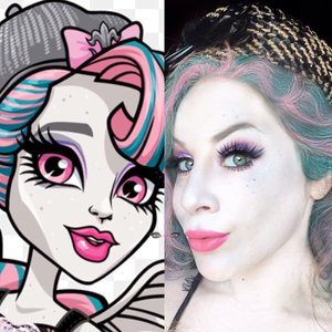 Why hello freaky-fierce Jeaniez! Here is my adaption to Monster High's Rochelle Goyle. Enjoy XOXO. http://www.thaeyeballqueen.com/makeuplooks/rochelle-goyle-monster-high/