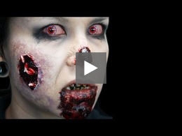 Zombie Makeup Looks: Biten by a Zombie