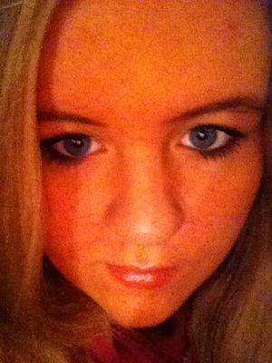 I used sephora's mascara with Avon's powder foundation with Elf's black drugstore eyeshadow on the lids :)