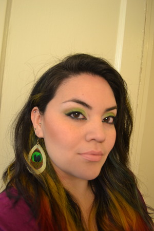 "A look I did using NYX's For Your Eyes Only palette in "" For Eye Color Green"""