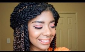 Spring Makeup Look for WOC | Full Face Talk Through Makeup Tutorial || Zaji-Kali