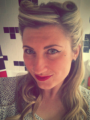 i did my hair 1940s inspired for the Crickey its Vintage fair!