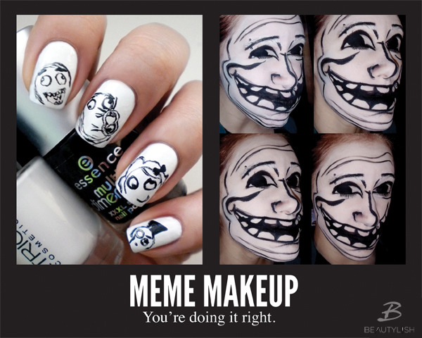 Image result for meme inspired makeup
