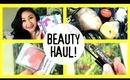 Beauty Haul & Review +Demos! Canmake Blush, Benefit Gimme Brow, Lush, Lip Crayon!