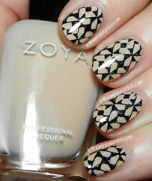 For Full details:  http://www.letthemhavepolish.com/2014/01/zoya-chantal-stamped-nail-art-look.html