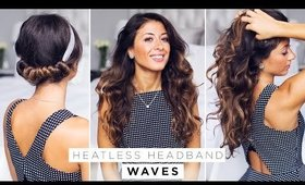 Heatless Headband Waves