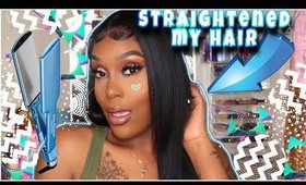 HOW TO STRAIGHT YOUR HAIR WITH STRAIGHTENER AT HOME