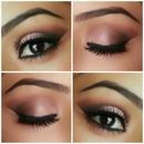 warm makeup look