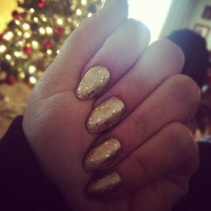 Gold pointed nails :)