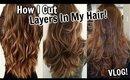How To Cut Layers In Your Hair at Home VLOG!│DIY Long Layered Haircut Talk Through│WATCH ME Cut Hair