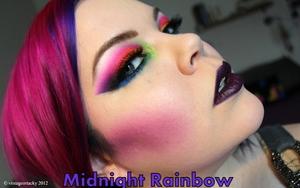 Step into the darker side of the rainbow http://www.beautylish.com/v/rwyvvx/midnight-rainbow