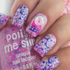 """Polish me silly """"Dreaming in pink"""" and cupcake design"""