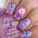 "Polish me silly ""Dreaming in pink"" and cupcake design"