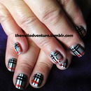 Burberry Print Nails