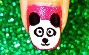 Panda nailart video tutorial: www.youtube.com/nailartbynidhi