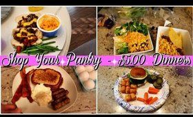 $5 DINNER IDEAS | WHATS FOR DINNER 2020 | QUICK & EASY PANTRY MEALS