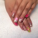 Betsy Johnson pink nails