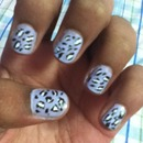 Cheetah Nail Art Design