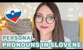 Personal Pronouns in Slovene   Learn Slovene with Sandra